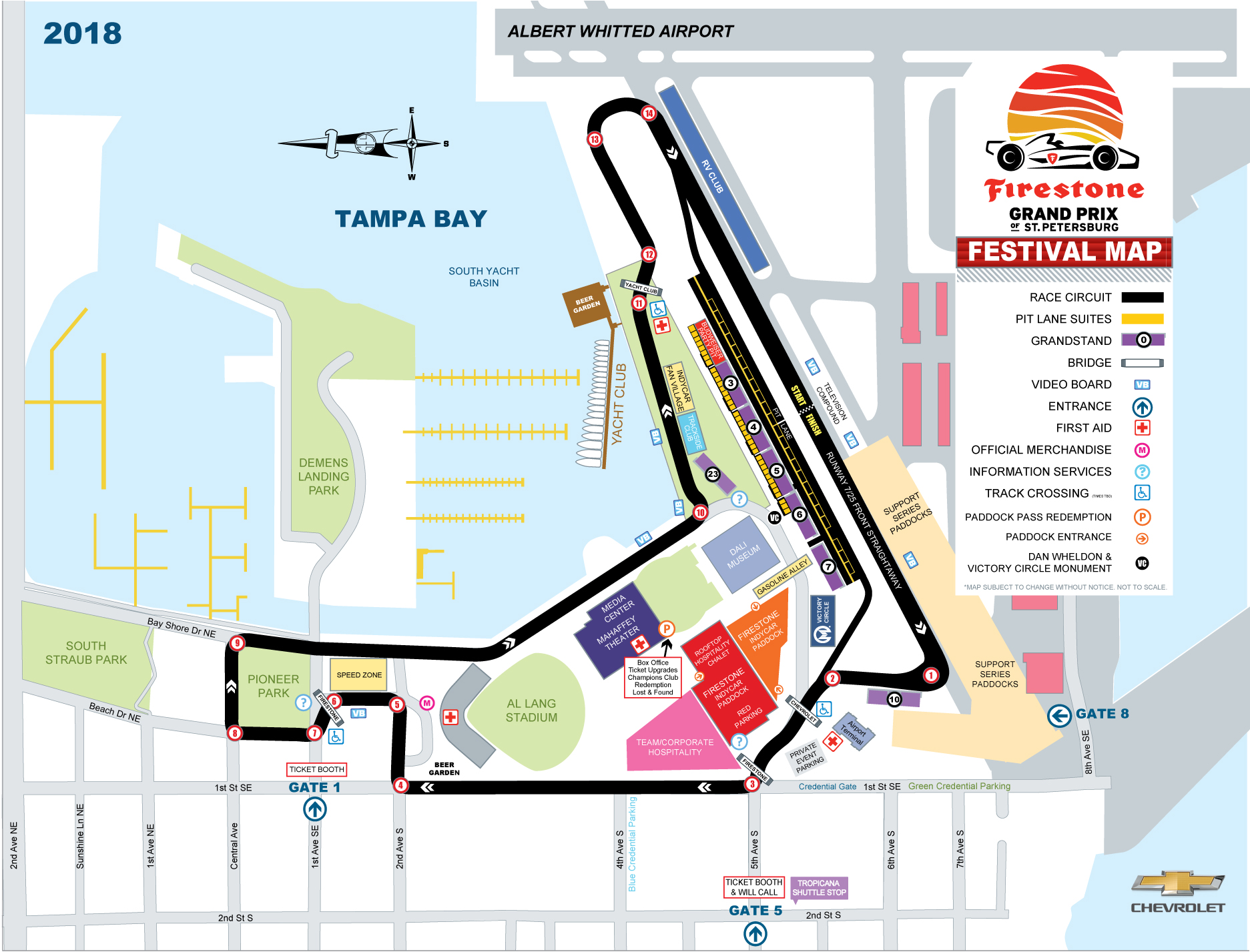 Firestone Grand Prix of St. Petersburg Festival Map