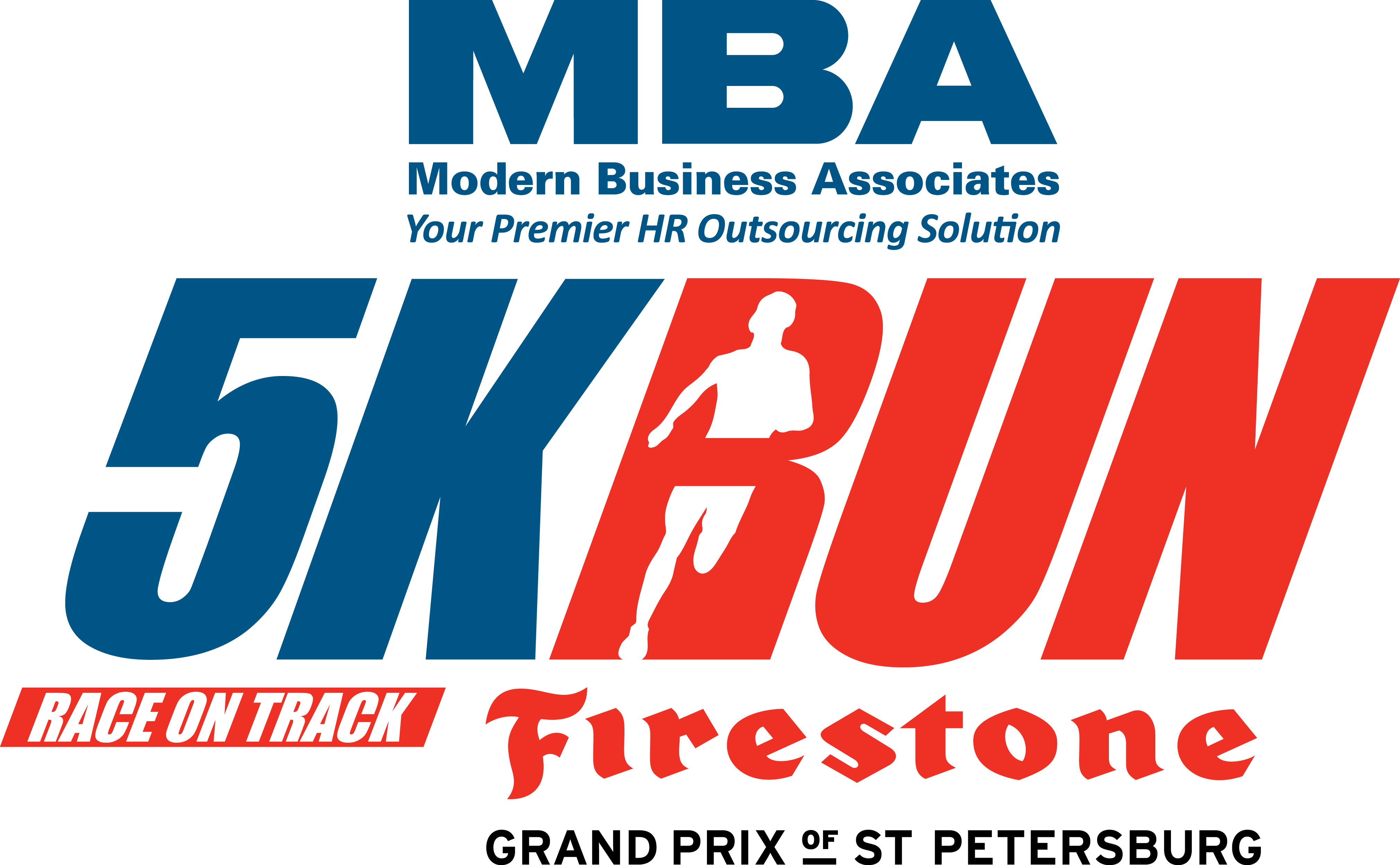 MBA 5K Run on the Firestone Grand Prix of St. Petersburg track logo