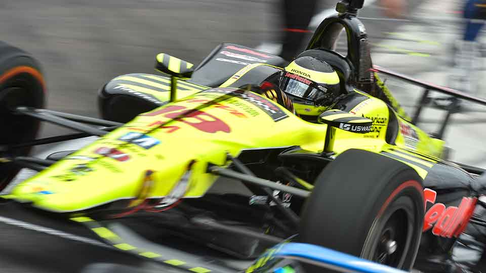 Sebastien Bourdais in his Sealmaster car