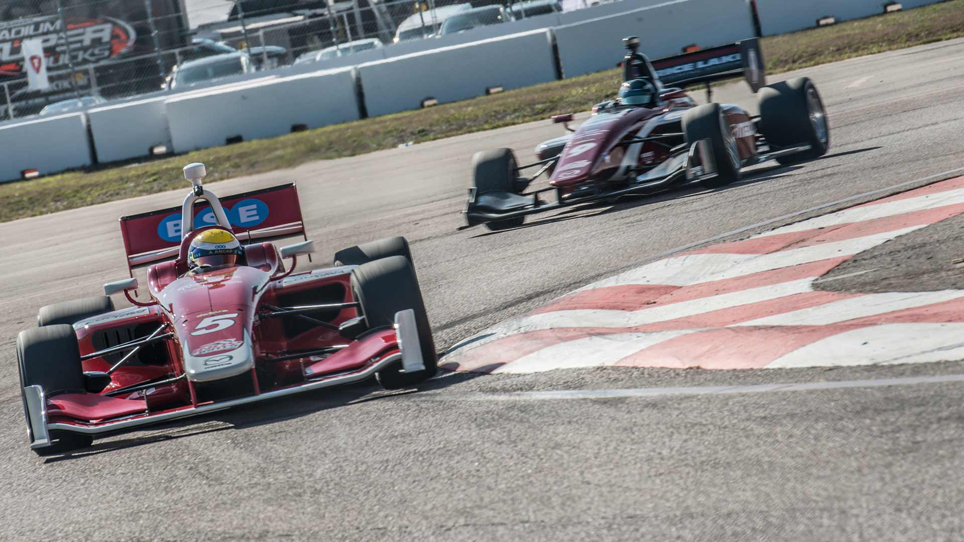 Road to Indy cars at the Firestone Grand Prix of St. Petersurg